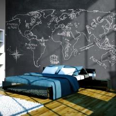 Artgeist Fototapete - Small travel. Large travel (French language)