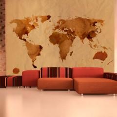 Artgeist Fototapete - Tee - Weltkarte
