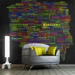 Artgeist Fototapete - The map of Poland