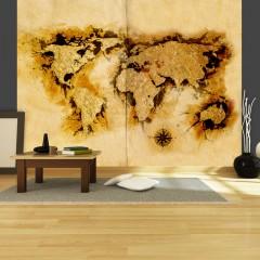 Artgeist Fototapete - Weltkarte der Goldsucher