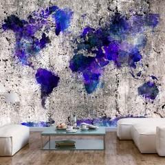 Artgeist Fototapete - World Map: Ink Blots