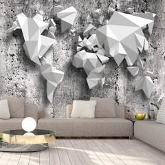 Artgeist Fototapete - World Map: Origami