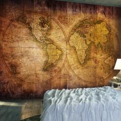 Artgeist Fototapete - World on old map