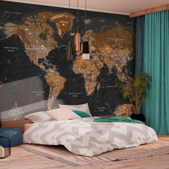 Artgeist Fototapete - World: Stylish Map