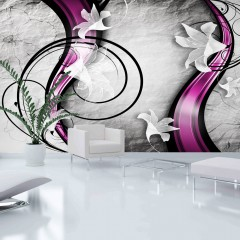 Artgeist XXL Tapete - Flowery Ribbon