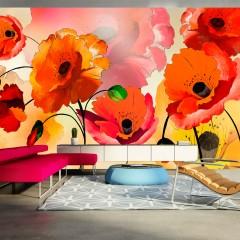 Artgeist XXL Tapete - Velvet poppies