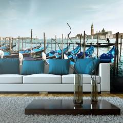 Artgeist XXL Tapete - Gondeln auf dem Canal Grande in Venedig