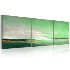 Artgeist Gemaltes Bild - Blassgrüne Küste