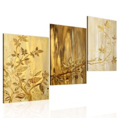 Artgeist Gemaltes Bild - Goldene Blätter