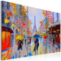 Artgeist Gemaltes Bild - Rainy Paris