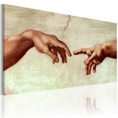 Artgeist Gemaltes Bild - Die Erschaffung Adams: Ausschnitt der Malerei