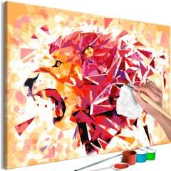 Artgeist Malen nach Zahlen - Abstract Lion