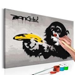 Artgeist Malen nach Zahlen - Affe (Banksy Street Art Graffiti)