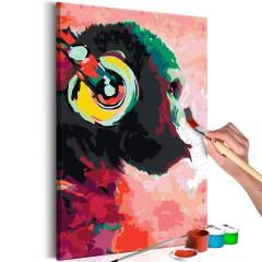 Artgeist Malen nach Zahlen - Affe mit Kopfhörer