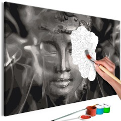 Artgeist Malen nach Zahlen - Buddha in Black and White