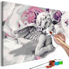 Artgeist Malen nach Zahlen - Engel (Blumen im Hintergrund)