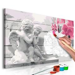 Artgeist Malen nach Zahlen - Engel (Rosarote Orchidee)
