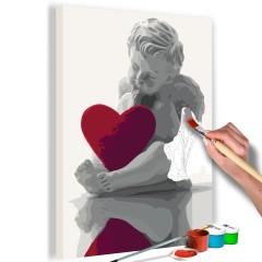 Artgeist Malen nach Zahlen - Engel (rotes Herz)