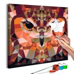 Artgeist Malen nach Zahlen - Eule (Geometrisches Design)