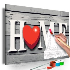 Artgeist Malen nach Zahlen - Home with Red Heart