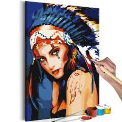 Artgeist Malen nach Zahlen - Indianerin