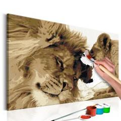 Artgeist Malen nach Zahlen - Löwenpaar (Liebe)