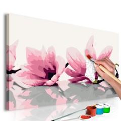 Artgeist Malen nach Zahlen - Magnolie (weißer Hintergrund)
