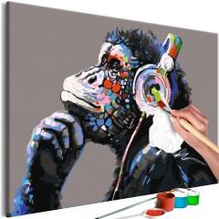 Artgeist Malen nach Zahlen - Musical Monkey