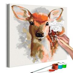Artgeist Malen nach Zahlen - Niedliches Hirschkälbchen