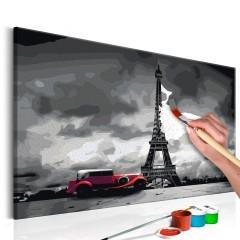 Artgeist Malen nach Zahlen - Paris (Rote Limousine)