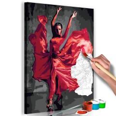 Artgeist Malen nach Zahlen - Red Dress