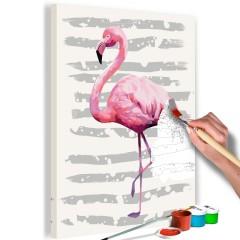 Artgeist Malen nach Zahlen - Schöner Flamingo