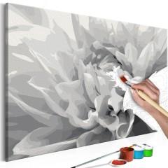 Artgeist Malen nach Zahlen - Schwarz-weiße Blume