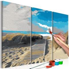Artgeist Malen nach Zahlen - Strand (Blauer Himmel)