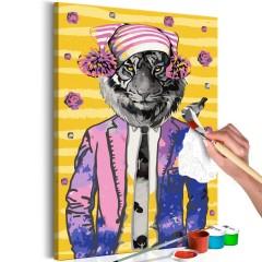 Artgeist Malen nach Zahlen - Tiger in Hat