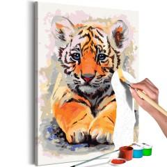 Artgeist Malen nach Zahlen - Tiger-Baby