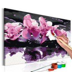 Artgeist Malen nach Zahlen - Violette Orchidee
