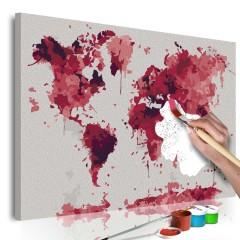 Artgeist Malen nach Zahlen - Watercolor Map
