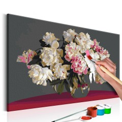 Artgeist Malen nach Zahlen - Weiße Blumen in der Vase