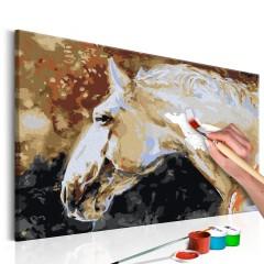 Artgeist Malen nach Zahlen - Weißes Pferd