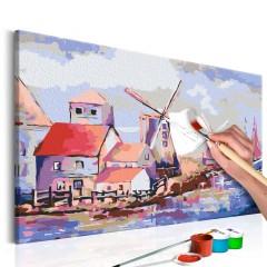 Artgeist Malen nach Zahlen - Windmühlen (Landschaft)