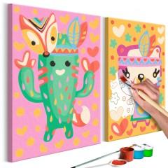 Artgeist Malen nach Zahlen - Kaktus & Bär