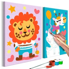 Artgeist Malen nach Zahlen - Löwe & Giraffe