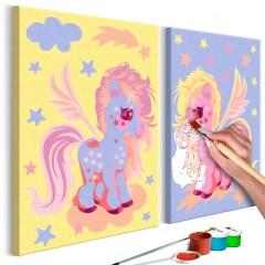 Artgeist Malen nach Zahlen - Magische Einhörner