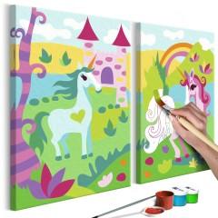 Artgeist Malen nach Zahlen - Märchenhafte Einhörner