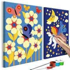 Artgeist Malen nach Zahlen - Schmetterling & Einhorn