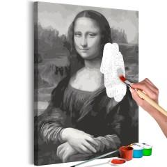 Malen nach Zahlen - Black and White Mona Lisa