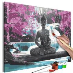 Malen nach Zahlen - Buddha and Waterfall