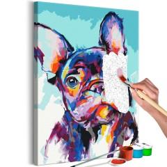 Malen nach Zahlen - Bulldog Portrait