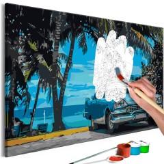 Malen nach Zahlen - Car under Palm Trees